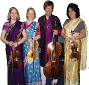 the Spring string quartet with Rakesh Joshi in Leeds town hall